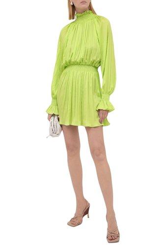 Женское платье MSGM зеленого цвета, арт. 3141MDA39A 217618   Фото 1