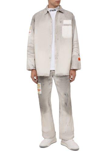 Мужские джинсы HERON PRESTON серого цвета, арт. HMCA027F21FAB0010500 | Фото 1