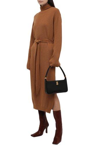 Женское платье NANUSHKA светло-коричневого цвета, арт. NW21CRDR00274 | Фото 1 (Материал внешний: Растительное волокно, Шерсть; Длина Ж (юбки, платья, шорты): Миди; Рукава: Длинные; Женское Кросс-КТ: Платье-одежда; Кросс-КТ: Трикотаж; Случай: Повседневный; Стили: Кэжуэл)
