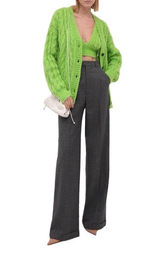 Женский кардиган MSGM зеленого цвета, арт. 3141MDM138 217771   Фото 1