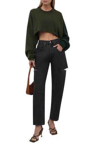 Женский пуловер Y`S зеленого цвета, арт. YM-K75-645   Фото 1