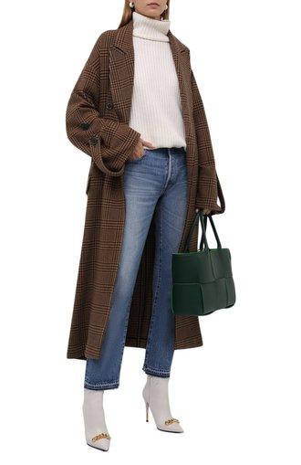 Женское кашемировое пальто DANIILBERG коричневого цвета, арт. C011   Фото 1 (Длина (верхняя одежда): Длинные; Материал внешний: Кашемир, Шерсть; Рукава: Длинные; 1-2-бортные: Двубортные; Стили: Кэжуэл)