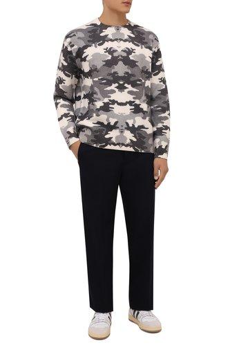 Мужской шерстяной свитер BURBERRY серого цвета, арт. 8043020 | Фото 1