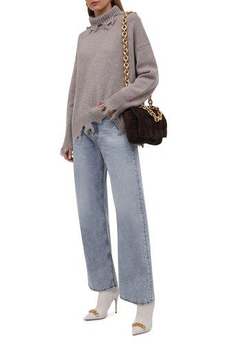 Женский кашемировый свитер ADDICTED темно-бежевого цвета, арт. MK890 | Фото 1 (Материал внешний: Шерсть, Кашемир; Женское Кросс-КТ: Свитер-одежда; Рукава: Длинные; Длина (для топов): Стандартные; Стили: Кэжуэл)