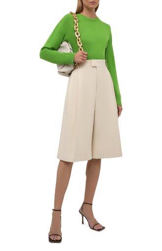 Женский кашемировый свитер VALENTINO зеленого цвета, арт. WB3KCC266LS   Фото 1
