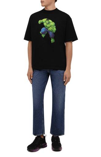 Мужская хлопковая футболка BALENCIAGA черного цвета, арт. 612966/TLV59 | Фото 1