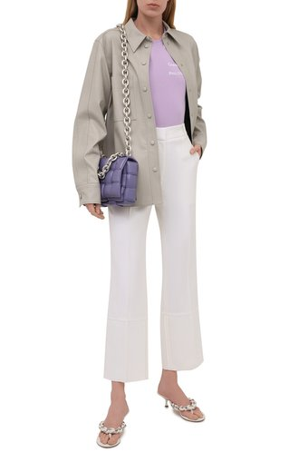 Женская хлопковая футболка SEVEN LAB фиолетового цвета, арт. T20-CYPN lavender   Фото 1