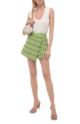 Женская юбка-шорты MSGM зеленого цвета, арт. 3141MDB05 217624   Фото 1
