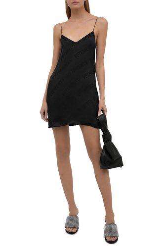 Женское платье из вискозы VETEMENTS черного цвета, арт. WA52DR140B 2610/BLACK   Фото 1