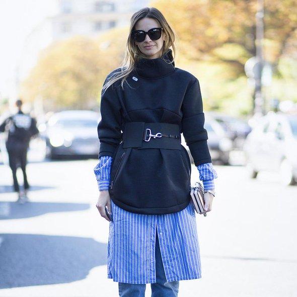 5 теплых образов с платьем-рубашкой
